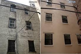 Concrete Block House Bank Street North River Renovation Management
