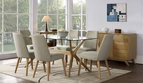 glass dining room sets dining room luxury glass dining room table round glass dining