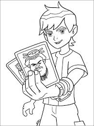 ben 10 coloring pages playing cards coloringstar