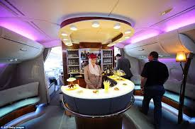 Emirates Airbus A380 Interior Business Class The Most Luxurious On Board Airline Bars In The Sky Revealed