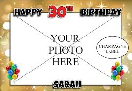 champagne bottle cartoon personalised gold sparkle happy 18th 21st 30th 40th 50th birthday