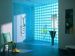 bathroom amusing design ideas modernize glass block wall window
