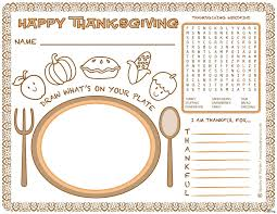 thanksgiving placemat thanksgiving placemat regular printable placemats coloring kids