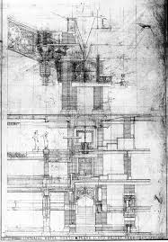 frank lloyd wright imperial hotel tokyo arquitectura dibujos