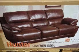Costco Sofa Leather Costco Sale Simon Li Leather Sofa Loveseat Frugal Hotspot