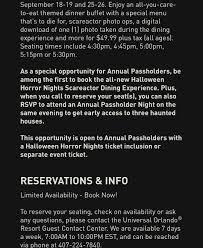 annual passholder halloween horror nights askuniversal on topsy one