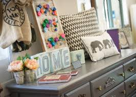 a peek inside an adorable custom painted furniture store in