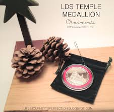 s journey to perfection lds temple medallion ornament