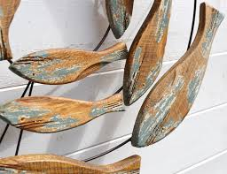 fish swirl wall wood coastalhome co uk coastal living