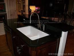black countertop with black sink undermount sink black granite sink ideas