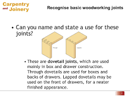 Woodworking Joints For Drawers by Recognise Basic Woodworking Joints 1 Can You Name And State A Use