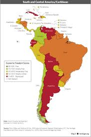 Map Of North America And South America With Countries by Download Index Of Economic Freedom Data Maps And Book Chapters