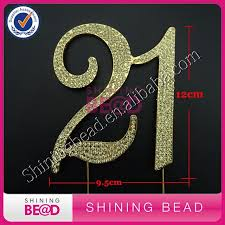 21 cake topper free shipping gold number 21st birthday cake topper gold
