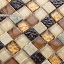 Brown Glass Tile Backsplash by Online Get Cheap Brown Glass Tile Backsplash Aliexpress Com