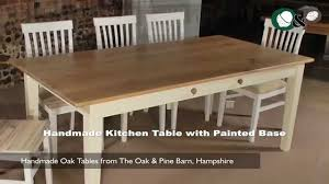 handmade oak tables handmade kitchen table with painted base