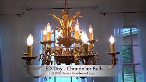 Dimmable Led Chandelier Light Bulbs Led Day Dimmable Led Chandelier Light Bulb Youtube