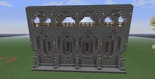 Wall Blueprints Minecraft Castle Wall Exterior Go Back U003e Gallery For U003e Minecraft