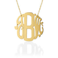 monogram necklace pendant block script monogram necklace the monogram merchant