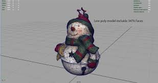 3d asset christmas ornaments pack cgtrader