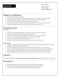 Accounts Payable Clerk Resume Cover Letter For Job Working With Kids Cover Letter For Job