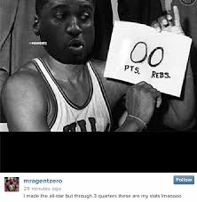Roy Hibbert Memes - gilbert arenas lays the instagram pacers trolling on thick