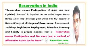 10 answers what is future of the reservation system in india