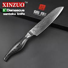 Japanese Kitchen Knives 5 Inches Santoku Knife Japanese Vg10 Damascus Kitchen Knives