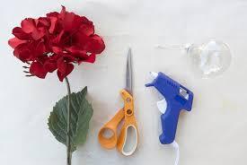 diy ornaments from silk flowers