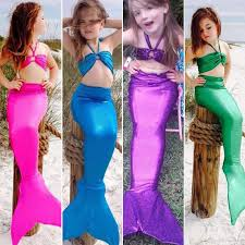 party city halloween return policy mermaid kids mermaid tail swimmable set bathing suit