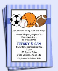 top 10 baby shower invitations sports theme trends in 2017