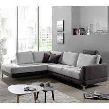 canapé d angle gris canapé angle gris en tissu sofamobili