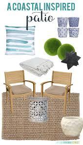 a coastal inspired patio design board life on virginia street