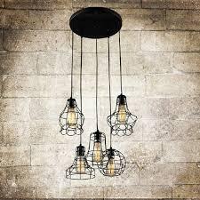 Hanging Lights Unusual 9 Light Wrought Iron Twig Black Pendant Lights