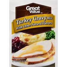 turkey gravy mix great value gravy mix turkey 0 87 oz walmart