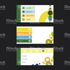 web design elements minimal header design with icons stock vector