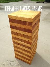 giant jenga inspired tower large stained u0026 sanded giant