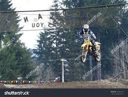 z racing motocross track woodland wausafebruary 9 motocross vintage motocycle stock photo