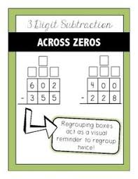 freebie 3 digit addition and subtraction with regrouping 4th