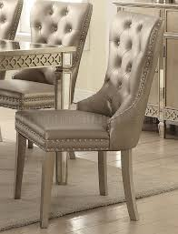 champagne dining room furniture 5pc dining set 72155 in champagne by acme w options