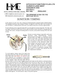 bullet ignition timing points engines vehicles