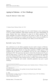 bureau int r ageing in pakistan a challenge pdf available