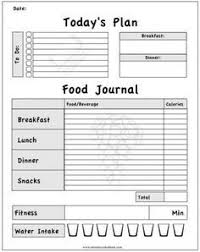 Fitness Journal Template Printable bariatric surgery weekly food exercise tracker weight loss journal