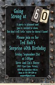 60 year birthday ideas 60th birthday card s milestone metal invitation