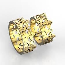 crown wedding rings crown wedding bands 2 3d print model cgtrader