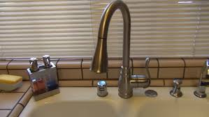 Brushed Bronze Kitchen Faucet Pull Kitchen Faucet Moen Kitchen Faucets At Rona Moen Brushed