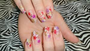 acrylic nails l winter or christmas nail design l collaboration