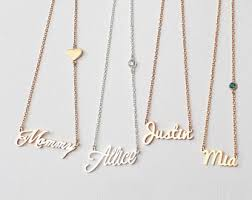cheap name necklaces monogram name necklaces etsy
