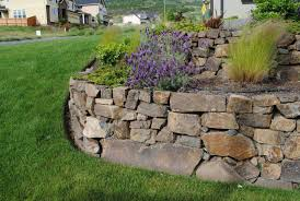 Terraced Retaining Wall Ideas by Landscaping Ideas Rock Retaining Wall Pdf