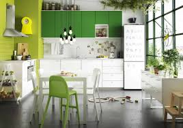 kitchen cabinet bright accent wall color scheme of modern