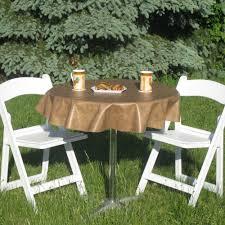 Elasticized Table Cover Round Vinyl Outdoor Tablecloths Starrkingschool